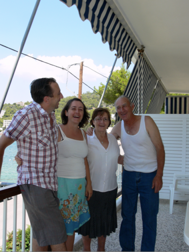 John, Vassiliki, Vassiliki and John - my husband and I with my uncle and aunt namesakes :)