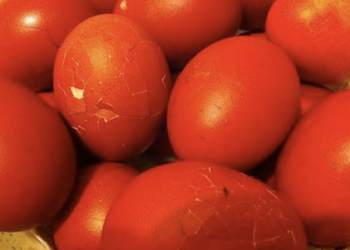 Cracked Red Eggs