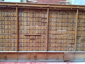 National Library of Greece Card Catalogue