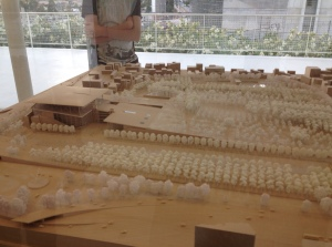 Model of the Stavros Niarchos Cultural Centre and the new National Library of Greece