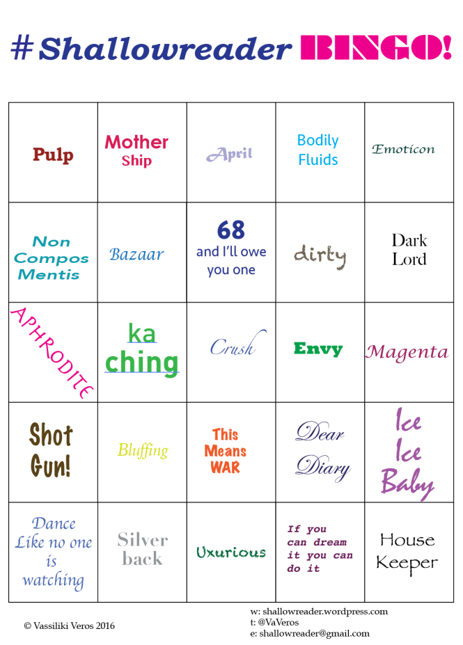 ShallowReaderBingo April
