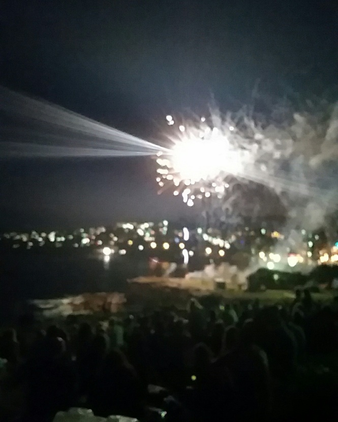 Coogee Beach 9pm fireworks
