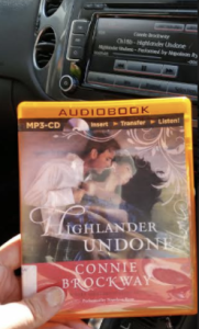 Photo of the audiobook cover for Highlander Undone by Connie Brockway.