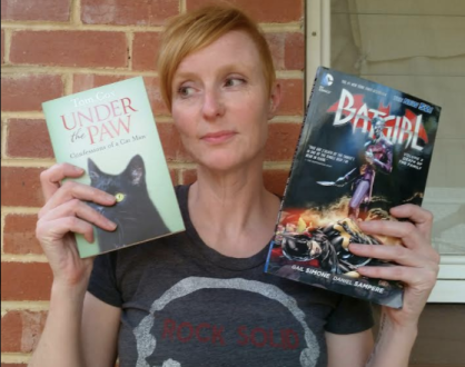 Mel Williams with a Batgirl comic and To Cox's Under the PAw