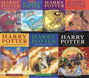 All 7 Harry Potter Book covers