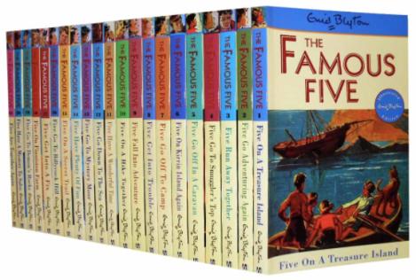 Famous Five Endi Blyton books