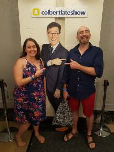 John, Stephen Colbert and me