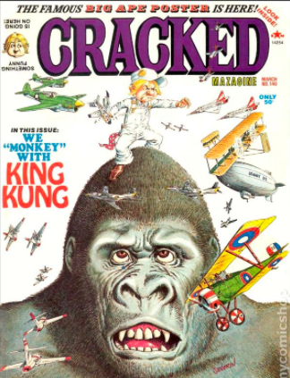 Cracked Magazine King Kong cover