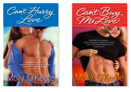 Molly O'Keefe covers with naked headless men showing pecs and abs.