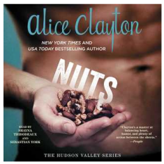 Gratuitous abs and snail trail of hair cover with a hand holding nuts. Good cover. Crap novel.